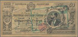 Argentina / Argentinien: Banco De La Provincia De Santiago Del Estero 50 Pesos 1888 Contemporary For - Argentina