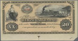 Argentina / Argentinien: El Banco Argentino, Cordoba Issue, 20 Pesos 1873 Unissued Remainder, P.S148 - Argentina