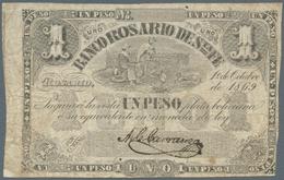 Argentina / Argentinien: Banco Rosario De Santa Fe 1 Peso 1869, P.S1854a, Still Nice Note In Origina - Argentina