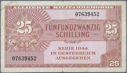 Austria / Österreich: 25 Schilling AMB 1944, P.108a, Lightly Toned Paper And Tiny Margin Split. Cond - Austria