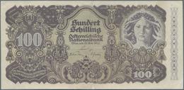 Austria / Österreich: 100 Schilling 1945 ZWEITE AUSGABE, P.119a, Stronger Vertical Fold At Center An - Austria