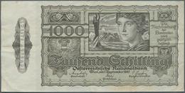 Austria / Österreich: 1000 Schilling 1947 P. 125, Stronger Center Fold, Light Vertical Fold, Slight - Austria