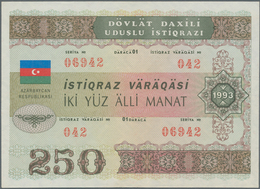 Azerbaijan / Aserbaidschan: 250 Manat 1993 State Loan Bonds, P.13A In Almost Perfect Condition With - Azerbaïjan