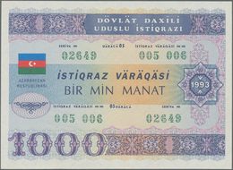 Azerbaijan / Aserbaidschan: 1000 Manat 1993 State Loan Bonds, P.13C In Almost Perfect Condition With - Azerbaïjan