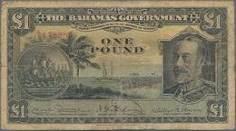 Bahamas: 1 Pound L.1919, P.7, Small Border Tears At Left, Toned Paper And Several Tiny Pinholes. Con - Bahamas