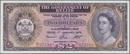 Belize: 2 Dollars January 1st 1976, P.34c In Perfect UNC Condition - Belize