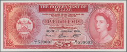 Belize: 5 Dollars January 1st 1976, P.35b, Great Original Shape And Perfect UNC Condition. - Belize