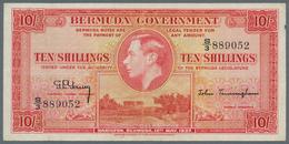 "Bermuda: 10 Shillings 1937, Series ""S/3"", P.10b, Very Nice Note With Lightly Toned Paper, Tiny Spot - Bermudas"