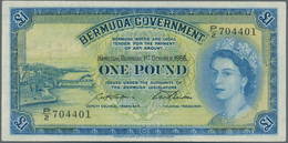 Bermuda: 1 Pound 1966, P.20d, Excellent Condition With A Soft Vertical Bend At Center Only: XF - Bermudas