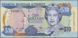 Bermuda: 10 Dollars May 7th 2007, P.52b, Very Soft Diagonal Bend At Center, Otherwise Perfect. Condi - Bermudas