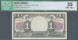 Bolivia / Bolivien: 1 Boliviano 1911 P. 104, In Condition: ICG Graded 35 VF+. - Bolivia