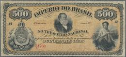 Brazil / Brasilien: Imperio Do Brasil 500 Reis ND(1874), P.A242, Still Nice And Rare With A Few Smal - Brazil