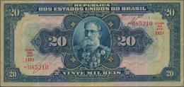 Brazil / Brasilien: Nice Group With 3 Banknotes Comprising República Dos Estados Unidos Do Brasil 5 - Brazil