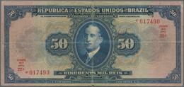 Brazil / Brasilien: República Dos Estados Unidos Do Brasil 50 Mil Reis ND(1915), P.58, Small Margin - Brazil