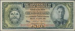 British Honduras: The Government Of British Honduras 10 Dollars June 1st 1951, P.27c, One Of The Key - Honduras