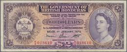 British Honduras: 2 Dollars 1973 P. 29c, Pressed, Folds And Stain In Paper, Minor Pinholes, No Tears - Honduras