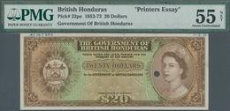 British Honduras: Government Of British Honduras 20 Dollars 1952-73 Printers Essay, P.32pe, Some Ann - Honduras