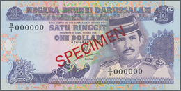 Brunei: Negara Brunei Darussalam / State Of Brunei Darussalam Extraordinary Rare SPECIMEN Set With 1 - Brunei