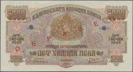 Bulgaria / Bulgarien: 5000 Leva 1945 SPECIMEN, P.73s, Almost Perfect Condition With A Soft Vertical - Bulgaria