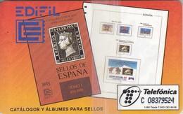 TARJETA DE ESPAÑA DE VARIOS SELLOS DE TIRADA 7000 NUEVA-MINT (STAMP) - Sellos & Monedas