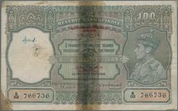 "Burma / Myanmar / Birma: Burma Currency Board 100 Rupees ND(1947) Overprint ""Legal Tender In Burma O - Myanmar"