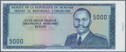 Burundi: Set Of 2 Progressive Proofs Of 5000 Francs ND P. 26a(p). The First Proof Has A Complete Pri - Burundi