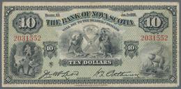 Canada: The Bank Of Nova Scotia 10 Dollars 1935, P.S633, Great Original Shape With A Few Tiny Pinhol - Canada