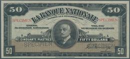 Canada: La Banque Nationale 50 Dollars 1922 SPECIMEN, P.S874s In Excellent Condition, Just Slightly - Canada