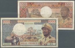 Central African Republic / Zentralafrikanische Republik: Republique Centrafricaine Pair With 500 And - Central African Republic