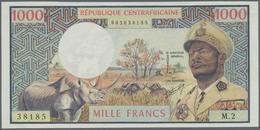 Central African Republic / Zentralafrikanische Republik: 1000 Francs ND(1974) P. 2 République Centra - Central African Republic