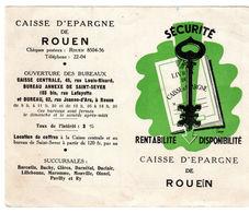 Calendrier De La Caisse D'épargne De Rouen De 1954 - - Calendarios