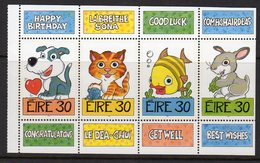 Ireland 1999 Greeting Stamps Booklet Pane, MNH, SG 1210/3 - 1949-... Republic Of Ireland