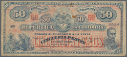 Colombia / Kolumbien: Banco Nacional De La República De Colombia 50 Pesos 1919, P.279, Still Nice Wi - Colombia