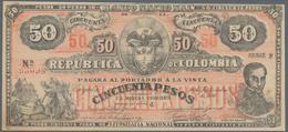 Colombia / Kolumbien: Banco Nacional De La República De Colombia 50 Pesos 1900, P.279, Almost Perfec - Colombia