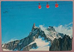 CATENA DEL MONTE BIANCO - Val D'Aosta - Il Dente Del Gigante - Cabinovia Della Vallée Blanche - Télécabine - Vg - Italia