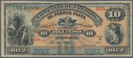 Costa Rica: Banco De La Compañia De Crédito De Puerto Plata 10 Pesos 188x Unsigned Remainder, P.S106 - Costa Rica
