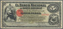 Costa Rica: Banco Nacional De Santo Domingo ND(1898), P.S133, Tiny Hole At Upper Center And Annotati - Costa Rica