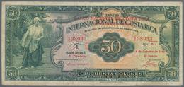 Costa Rica: Banco Nacional De Costa Rica 50 Colones 1942 Overprint On Costa Rica #182, P.193, Very P - Costa Rica