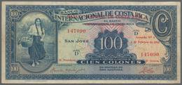 Costa Rica: Banco Nacional De Costa Rica 100 Colones 1942 Overprint On Costa Rica #183, P.194, Very - Costa Rica