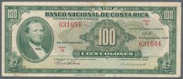 Costa Rica: Banco Nacional De Costa Rica 100 Colones December 21st 1949, P.212a, Stronger Center Fol - Costa Rica