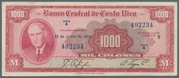 Costa Rica: Banco Central De Costa Rica 1000 Colones June 12th 1974, P.226c, Highest Denomination Of - Costa Rica