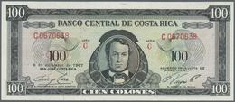 Costa Rica: 100 Colones 1967 P. 234, S/N C0670638, Crisp Original Paper, Unfolded, Light Dints At Up - Costa Rica