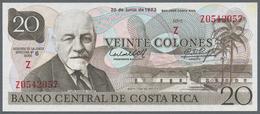 Costa Rica: Banco Central De Costa Rica 2 Colones 1967 Provisional Overprint Issue P.235 (VF) And 20 - Costa Rica