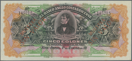 Costa Rica: El Banco Anglo Costarricense Set With 6 Banknotes Comprising 5 And 10 Colones 19xx Remai - Costa Rica