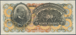 """Costa Rica: 20 Colones 19xx P. S124, Unsigned Remainder, Printed """"Mustra Sin Valor"""" On Back, Regular - Costa Rica"""