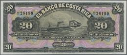 Costa Rica: El Banco De Costa Rica 20 Pesos 1899 Remainder, P.S165r In Perfect UNC Condition - Costa Rica