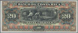 Costa Rica: 20 Colones 1901 P. S175r, Unsigned Remainder With Bright Colors In Crisp Original Condit - Costa Rica