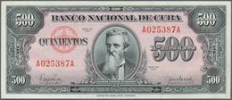 Cuba: 500 Pesos 1950 P. 83, Light Center Bend And Light Handling In Paper, No Holes Or Tears, Crisp - Cuba