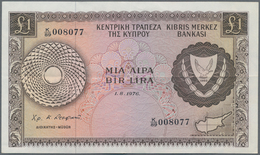 Cyprus / Zypern: Set Of 2 Notes Containing 500 Mils And 1 Pound 1976/79, The First In UNC, The Secon - Cyprus