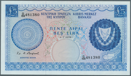 Cyprus / Zypern: 5 Pounds 1975, P.44c, Tiny Dint At Lower Right Corner, Otherwise Perfect. Condition - Cyprus